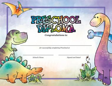 Preschool Dinosaur Diploma - Package of 25 - Cool School Studios