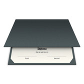Shown is blank diploma certificate cover in charcoal (Cool School Studios 01311).