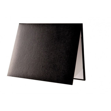 Shown is padded diploma certificate cover in black (Cool School Studios 01316).