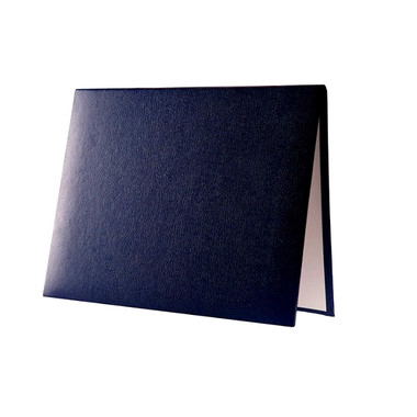Shown is padded diploma certificate cover in royal blue (Cool School Studios 01317).