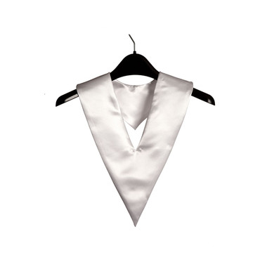 Shown is white child v-stole (Cool School Studios 0902), front view.