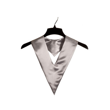 Shown is silver child v-stole (Cool School Studios 0907), front view.