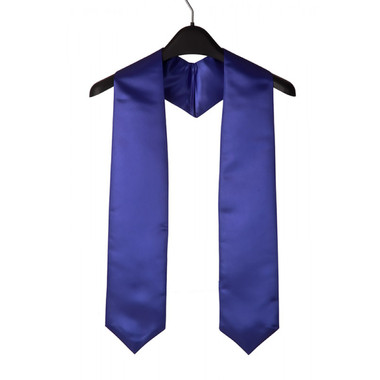 Shown is royal blue child stole (Cool School Studios 0921), front view.
