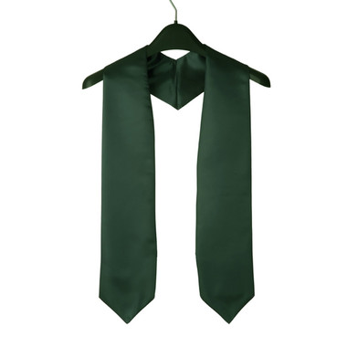 Shown is forest green child stole (Cool School Studios 0925), front view.