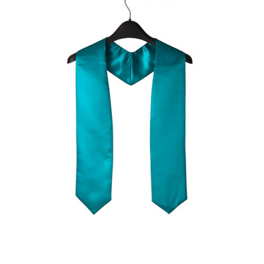 Shown is turquoise child stole (Cool School Studios 0930), front view.