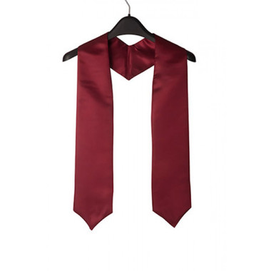 Shown is maroon child stole (Cool School Studios 0931), front view.