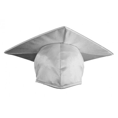 Shown is child shiny white cap (Cool School Studios 0502), front view.
