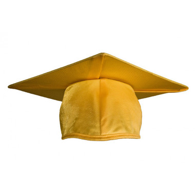 Shown is child shiny gold cap (Cool School Studios 0508), front view.
