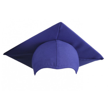 Shown is child matte royal blue cap (Cool School Studios 0516), front view.
