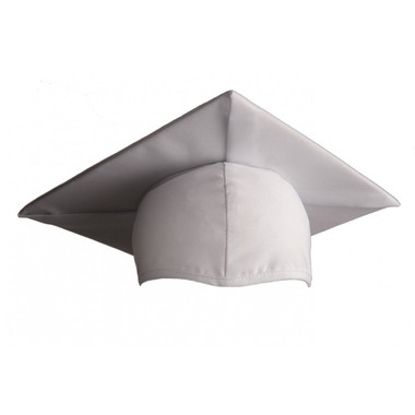 Shown is child matte white cap (Cool School Studios 0518), front view.