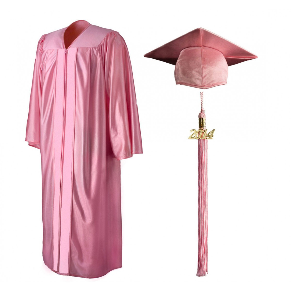 Shiny Pink Cap, Gown & Tassel - Cool School Studios