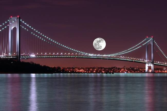 The Verrazano-Narrows Bridge at Moonlight
