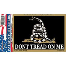 Bumper Sticker - Don't Tread on Me (Black)