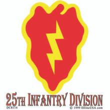 Bumper Sticker - US Army 25th Infantry