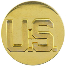"Pin - Army, Enl, US, Letters (Gold) (1-1/16"")"