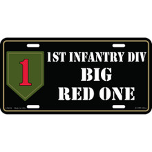 License Plate - Army 1st Inf Div