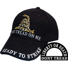 Don't Tread on Me Hat, Black