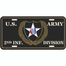 License Plate - Army 2nd Inf Division