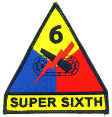 "Patch - 6th Arm Div (3-3/4"")"