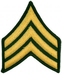 "Patch - Army, E5 Sgt (3"")"