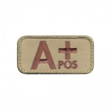 "Velcro Patch - A Positive Blood Type (2"" x 1"")"