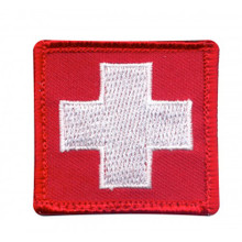 "Velcro Patch - White Cross Medic (1-7/8"" x 1-7/8"")"