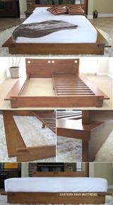 Zen Platform Bed - Honey Oak