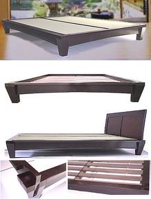 Yamaguchi Platform Bed Frame-Dark Walnut