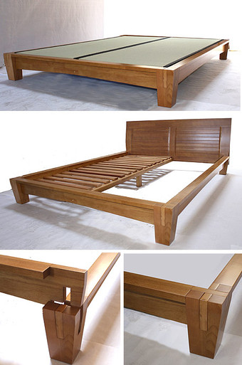 Yamaguchi Platform Bed Frame Honey Oak