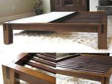 TALL Tatami Platform Bed  - Honey Oak