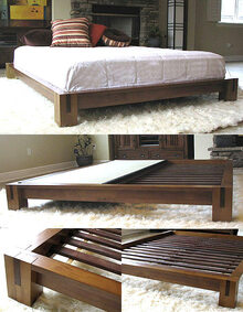 Tatami Platform Bed - Honey Oak