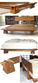 Wakayama Platform Bed Frame - Honey Oak