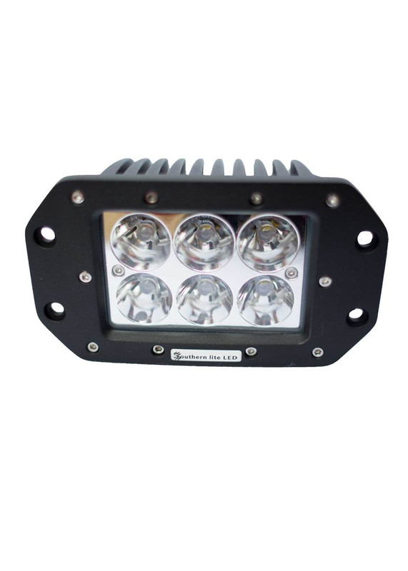120 Watt CUBE Flush Mount Package (Two 60 Watt LEDs and wire harness)