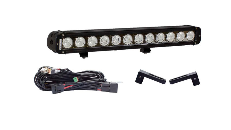 "Dodge RAM 2500/3500 21"" LED light bar Hidden Bumper Mount Package"