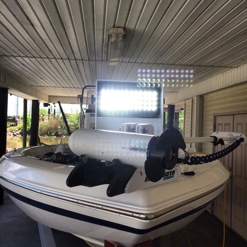 Mounted on a 24 Foot Skeeter center console