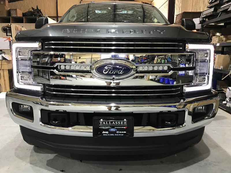 "***NEW**** 2017 F250/F350 Double Hidden Grille Mount LED Lights (Includes two 11"" LED Light Bars, two hidden grille mounts, and wire harness)"
