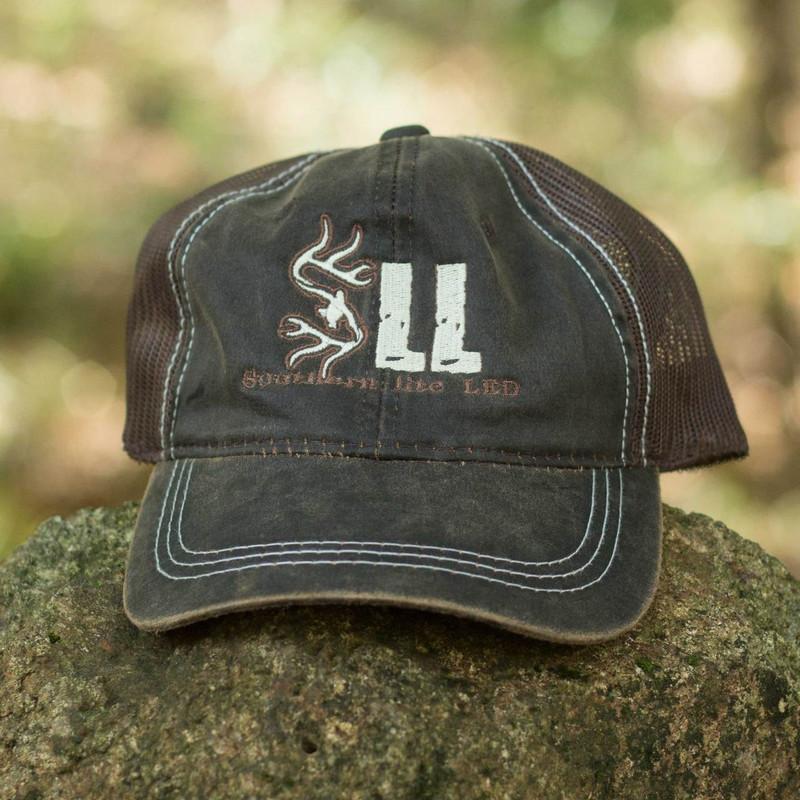 Custom Southern lite LED Brown Mesh-back Hat