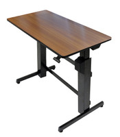 WorkFit-D, Sit-Stand Desk (24-271-927) Walnut