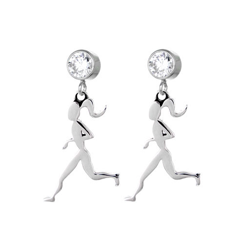 Runner Girl CZ Stud Earrings
