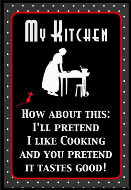 I'll pretend I like cooking