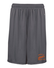 Athletics Graphite Pocketed Performance Short With Logo