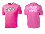 ATHLETICS ADULT NEON PINK BREAST CANCER SUPPORT SHIRT