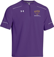 MUSTANG MENS UNDER ARMOUR PURPLE STRETCH WOVEN SHORT-SLEEVE CAGE JACKET