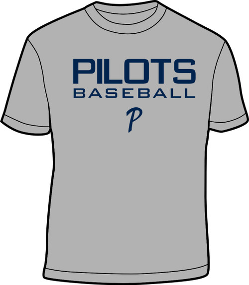Grey and Navy Youth Practice Tee