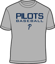 Grey and Navy Adult Practice Tee