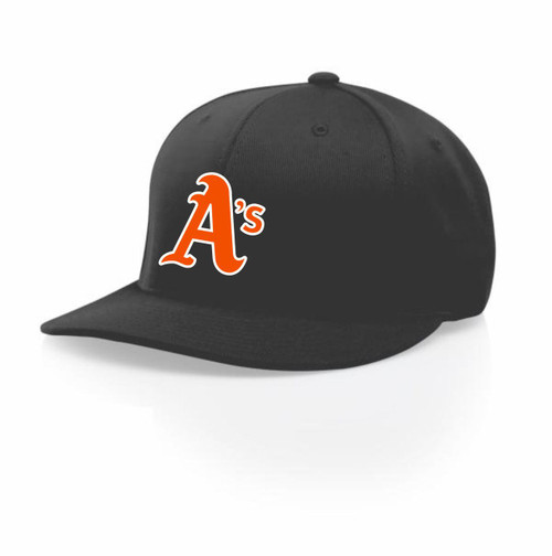 Athletics Charcoal Flexfit Hat With A's Logo