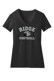 MOUNTAIN RIDGE LADIES GLITTER FLAKE RIDGE FOOTBALL V NECK