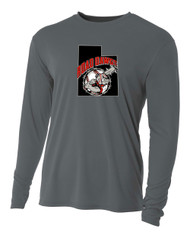 UTAH ROAD DAWGS YOUTH LONG SLEEVE COOLING DRIFIT LOGO SHIRT