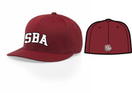 "UTAH ROAD DAWGS RED FLEXFIT HAT WITH ""SBA"" LOGO"