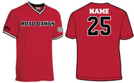 UTAH ROAD DAWGS ADULT V-NECK ROAD DAWGS, NUMBER AND NAME